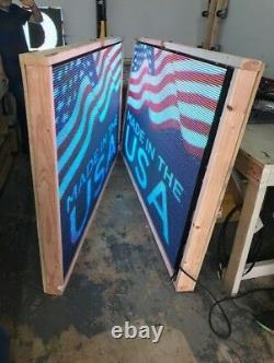 Sale High Quality LED Sign Outdoor Full Color Double Sided+ WIFI 10mm 25 X 38