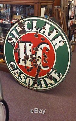 Sinclair Porcelain Sign (Double Sided) With Ring