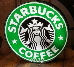Starbucks Coffee 18 Authentic Double Sided Lighted Sign Siren 1992 Logo Working