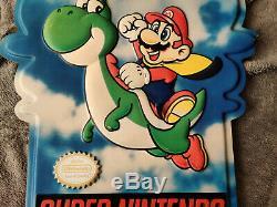 Super Nintendo Store Sign Super Mario Yoshi SNES Double SIded