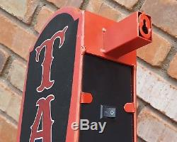 TATTOO Plug-In or Battery Double Sided Arrow Rustic Metal Marquee Light Up Sign