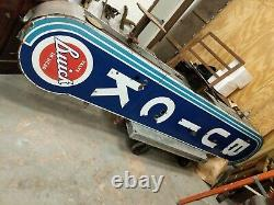 Ultra Rare BUICK Car Auto Dealership Double Sided Porcelain Sign 12