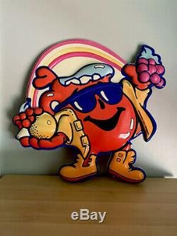 VTG Kool-Aid Man Display Advertising Store Sign Double Sided Colorful 90s