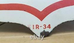 Vintage 1934 Standard Oil Co. Socony-Vacuum Pegasus Double Sided Porcelain Sign