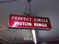 Vintage 1940s PERFECT CIRCLE piston rings Double Sided Light up 3 Ft x 1 Ft x 3