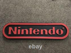Vintage 4-foot Nintendo Double-Sided Hanging Nintendo Store Sign