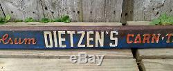 Vintage Antique Dietzen's Holsum Corn-Top Bread Double Sided Door Push