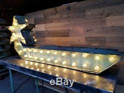Vintage Arrow Lighted Marquee Sign Double Sided