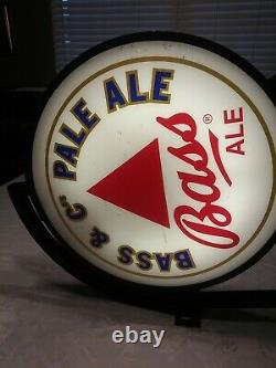 Vintage Bass & Cos Pale Ale Bar Sign Double Sided Light up Pub Sign