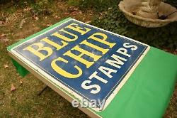 Vintage Double Sided Blue Chip Stamps Sign 30 x 36
