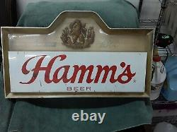 Vintage Double Sided Hamm's Beer Electric Light-Up Bar Sign 25L x 14.5H x 4W