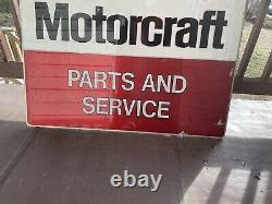 Vintage Ford Motorcraft Tin Sign Tin Double Sides 1990s One Side Faded More