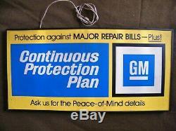 Vintage GM Clock Sign DOUBLE SIDED General Motors Dealership advertising sign