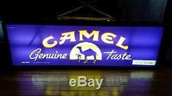 Vintage Giant Double Sided Camel Cigarettes Light Up Hanging Sign Man Cave Bar