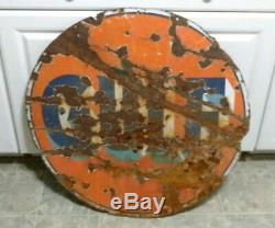 Vintage Gulf Double Sided 30 Porcelain Gas and Oil Sign