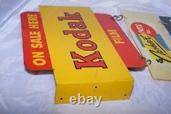 Vintage KODAK On Sale Here-Film Double Sided Painted Enamel Advertising SIGN