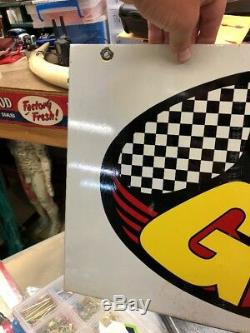 Vintage Kendall GT1 Racing Oil Sign Double Sided Service Station Metal Sign