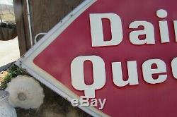 Vintage Large 118L X 78T Dairy Queen DQ Double Sided Light Sign #2785