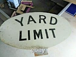 Vintage Railroad Yard Limit Sign 3/8 Thick Aluminum Sign 36 X 22 Double Sided