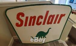 Vintage Sinclair porcelain sign 42 X 60 Double Sided