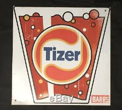 Vintage Tizer Metal Double Sided Advertising Sign Approx 38cm x 38cm