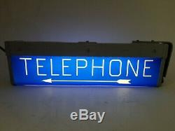 Vintage Western Electric Hanging Telephone Booth Lighted Double Sided Sign 19