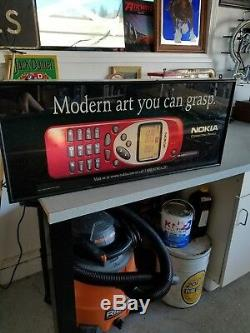 Vintage double-sided Nokia Modern Art light-up sign man cave