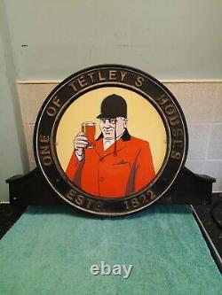 Vintage original Tetley house double sided sign