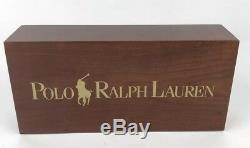 Vtg 90s Rare Polo Ralph Lauren Double Sided Wooden Store Display Sign 5x10.5