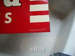 WILLARD BATTERIES SIGN VERY NICE, double sided porcelain, dated 7-50