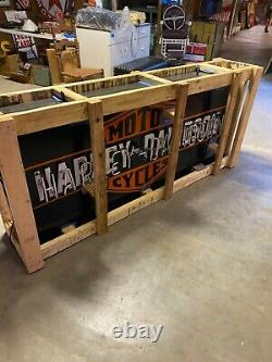 WoW NEON HARLEY DAVIDSON MOTORCYCLE DoUbLe Sided SIGN DEALERSHIP MANCAVE shop
