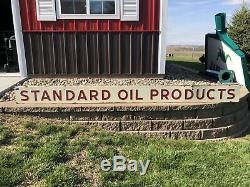 10 Standard Oil Produits Double Face Signe Porcelaine Bande