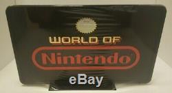 12 X 7 Vintage World Of Nintendo Bilaterale Affichage En Plastique Enseigne