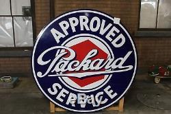 1930 Packard Service Agréé Double Face Porcelain Sign Par Walker & Co