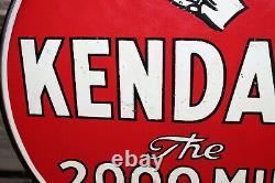 1940-50s Kendall Motor Oil Double Face Porcelaine Lollipop Signe