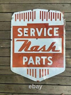 1940 Nash Pièces & Service Double Face Porcelain Original Connexion