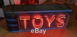 1940 Vintage Toys Double Face D'affichage Neon Enseigne