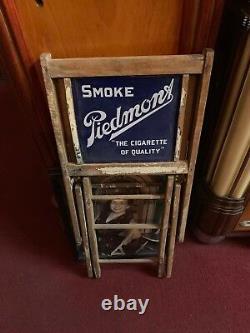1940's Piedmont Tobacco Folding Deck Chair Double-sided Porcelain Watch Vidéo
