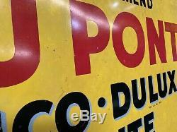 1950 De Double Face Du Pont Automobile Peinture Métal 36 Signe Regarder La Vidéo