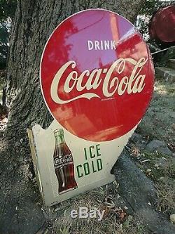 1953 Bilaterale Ice Cold Coca Cola Bride Metal Sign