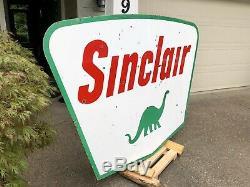 1961 Sinclair Essence De Porcelaine À Double Face Sign Jumbo