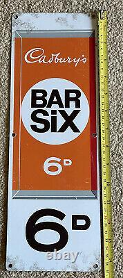 1970 Cadburys Bar Six/dairy Milk Enamel Double Faced Vending Machine Signe