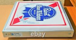 1986 Pabst Beer Outdoor 4' X 4' Double Sided Sign The Best Nos Ment In Box Wow