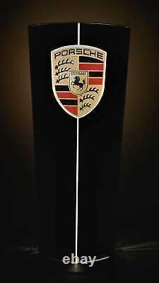 2000 Concessionnaire Officiel Porsche Illuminé Panneau Double Côté
