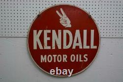 24 Old Original Kendall Huiles De Moteur Double Face Panneau Vintage