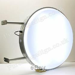 28 Double Face Ronde Extérieur Projeter Light Box + Sign Graphics 70cm D70 Led