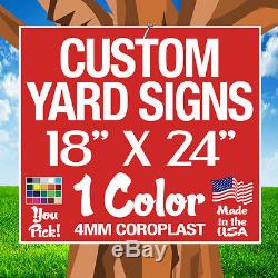 50 18x24 Yard Signs Custom Double Face (18x 24)