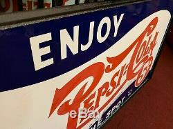 56 Pepsi - Cadre À Panneau Suspendu En Porcelaine À Double Face En Porcelaine Pour Double Point Voir La Vidéo