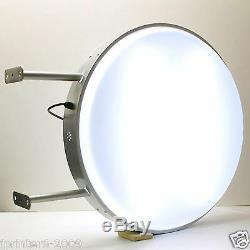 70cm Ronde Tube Fluorescent À Double Face Extérieure Projeter Light Box Se Connecter Plaine