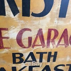 À Double Original Dégrossi Bain Petit Déjeuner Signe Touristique Antique 1920 Lacs Finger